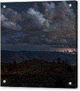 Lightning And Light Trails Acrylic Print