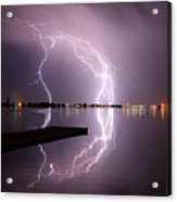 Lightning And Water Acrylic Print