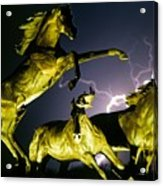 Lightning At Horse World Fine Art Print Acrylic Print