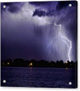 Lightning Bolt Energy Color Acrylic Print