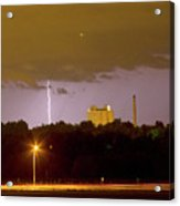 Lightning Bolts Striking In Loveland Colorado Acrylic Print