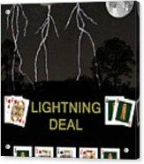 Lightning Deal  Poker Cards Acrylic Print