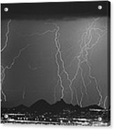 Lightning Long Exposure Acrylic Print