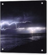 Lightning Off The Gaviota Coast Acrylic Print