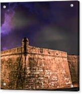 Lightning Over Castillo De San Marcos National Monument Acrylic Print