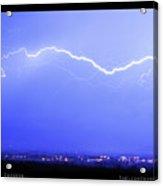 Lightning Over North Boulder Colorado  Poster Lm Acrylic Print