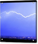 Lightning Over North Boulder Colorado  Poster Sp Acrylic Print
