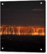Lightning Over Santa Ynez Valley Acrylic Print