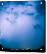 Lightning Rainbow Blues Acrylic Print