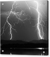 Lightning Storm 08.05.09 Bw Acrylic Print