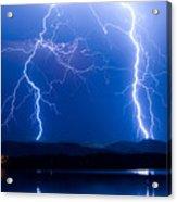 Lightning Storm 08.05.09 Acrylic Print by James BO  Insogna