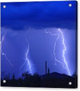 Lightning Storm In The Desert Fine Art Photography Print Acrylic Print