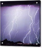 Lightning Storm North Scottsdale Az 85255 Acrylic Print