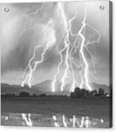 Lightning Striking Longs Peak Foothills 4cbw Acrylic Print by James BO  Insogna