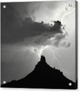 Lightning Striking Pinnacle Peak Arizona Acrylic Print