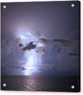 Lightning Striking The Gulf  Acrylic Print