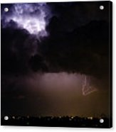Lightning Thunderstorm Cell 08-15-10 Acrylic Print by James BO  Insogna