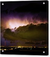 Lightning Thunderstorm Cloud Burst Acrylic Print