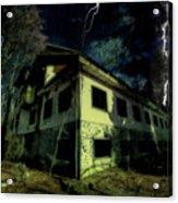 Lightnings On Abandoned Hotel On Liguria Mountains High Way - Fulmini Su Hotel Abbandonato Sull'av Acrylic Print