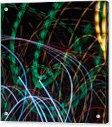 Lightpainting Single Wall Art Print Photograph 1 Acrylic Print