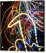Lightpainting Single Wall Art Print Photograph 3 Acrylic Print
