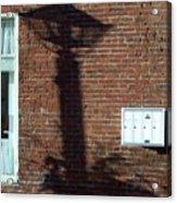 Lightpost Shadow Acrylic Print