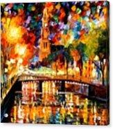 Lights And Shadows Of Amsterdam Acrylic Print