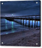 Lights At The End Of The Pier Acrylic Print