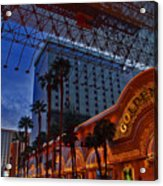 Lights In Down Town Las Vegas Acrylic Print