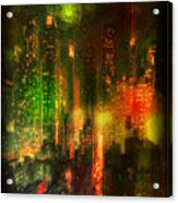 Lights In The City Acrylic Print
