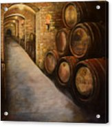 Lights In The Wine Cellar - Chateau Meichtry Vineyard Acrylic Print