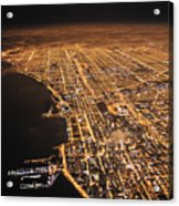 Lights Of Chicago Burn Brightly Acrylic Print