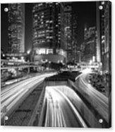 Lights Of Hong Kong Acrylic Print