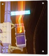 Lights That Eat Do Not Walk Signals Acrylic Print