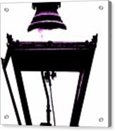 Lightshade In A Hint Of Purple Acrylic Print