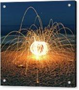 Lighty Fireworks Acrylic Print