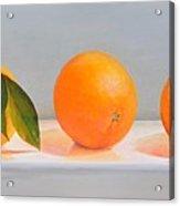 Ligne D Oranges 2 Acrylic Print