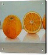 Ligne D Oranges Acrylic Print