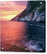 Ligurian Sunset - Vertical Acrylic Print