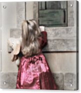 Liitle Girl In Red Acrylic Print