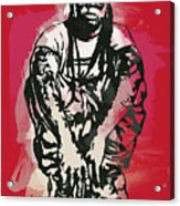 Lil Wayne Pop Stylised Art Sketch Poster Acrylic Print