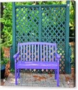 Lilac And Teal Garden Acrylic Print