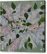 Lilac Flowers Expressing Harmony Acrylic Print