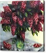 Lilac Original Flower Painting Acrylic Print