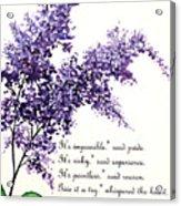 Lilac  Poem Acrylic Print
