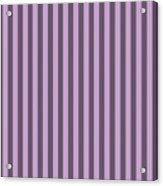 Lilac Purple Striped Pattern Design Acrylic Print