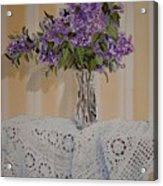 Lilacs And Lace Acrylic Print