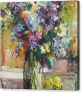 Lilacs And Lemons Acrylic Print