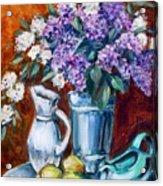 Lilacs And Lemons Acrylic Print by Sheila Tajima