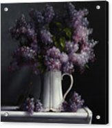 Lilacs/haviland Water Pitcher Acrylic Print
